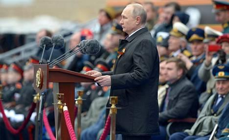 Vladimir Putin puhui sunnuntaina Moskovan voitonpäivän paraatissa.