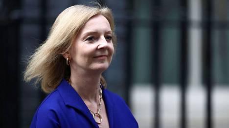 Ulkoministeriksi noussut Liz Truss kuvattiin Downing Streetillä Lontoossa 15. syyskuuta 2021.