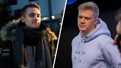 Jesse Linjala (vasemmalla) on listalla parhaiten sijoittunut suomalainen. Kaksi sijaa perässä tulee Jani Jussilan tähdittämä HAVU Gaming.