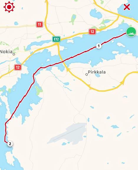 Kariman matka alkoi Tahmelan rannasta ja päättyi Pirkkalaan.