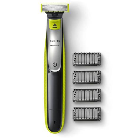 Philipsin OneBlade on uusi parranajotekniikka, jolla kaikenpituisten ja -mallisten partojen trimmaus, muotoilu ja ajo on mahdollista samalla työkalulla. 34,90 €.