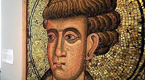 Tämä mosaiikkityö ei esitä Filippusta, vaan toista apostolia Tuomasta galleriassa Saksan Überlingenissä. Arkistokuva.