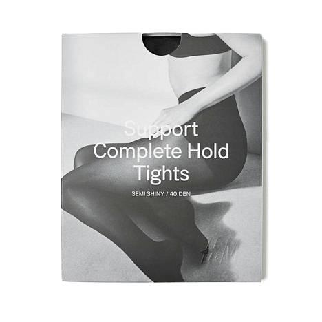 H&M:n Support-sukkahousuja löytyy eri paksuisina ja eri kiiltävyysasteilla, 9,99 €.