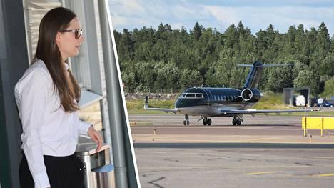 Pääministeri saapui Brysselistä Helsinkiin tiistai-iltana.