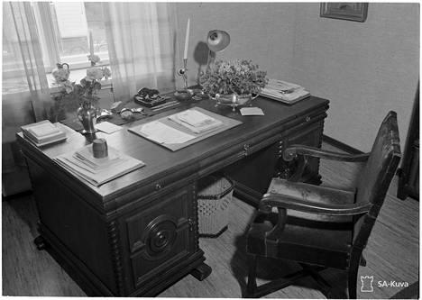 Mannerheimin sodanaikainen yksityisasunto.
