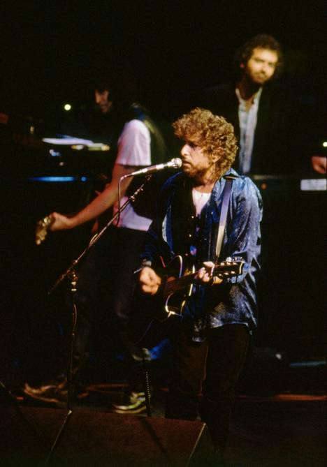 Bob Dylan ja Tom Petty ja The Heartbreakers esiintyvät Helsingin Jäähallissa 23. syyskuuta 1987.