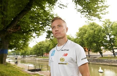 Joonas Rinne kuvattiin Turussa torstaina.