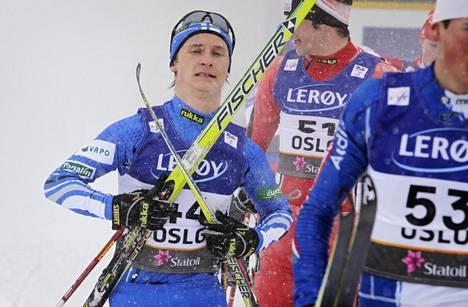Eetu Vähäsöyrinki kilpaili kolme kertaa MM-kisoissa. Kuva on Oslosta vuodelta 2011.