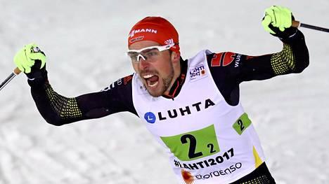 Saksan Johannes Rydzek voitti MM-kisoista neljä kultaa.