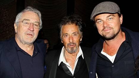 Robert De Niro (vas.) ja Al Pacino (kesk.) nähdään Martin Scorsesen tulevassa mafiaelokuvassa The Irishman. Myös Leonardo Di Caprion mukana olosta liikkuu vahvoja huhuja.