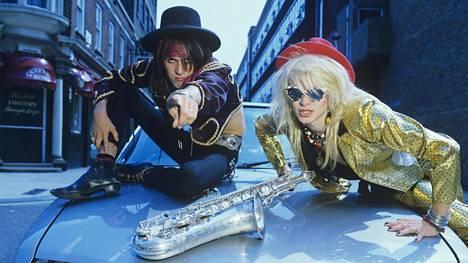 Andy McCoy ja Michael Monroe vuonna 1983.