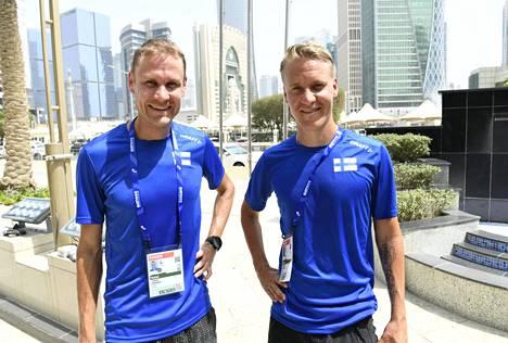Jarkko Kinnunen ja Aku Partanen kilpailevat Dohassa 50 kilometrin kävelyssä lauantain ja sunnuntain välisenä yönä.
