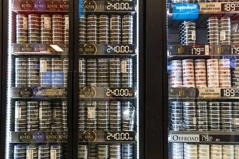 Ruotsin puolelta ei enää tulla hakemaan nuuskaa ja halpoja makeisia samaan tahtiin kuin ennen koronaa. Kuvituskuva.