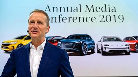 Pääjohtaja Herbert Diss valotti Volkswagenin näkymiä tänään kotikentällään Wolfsburgissa.