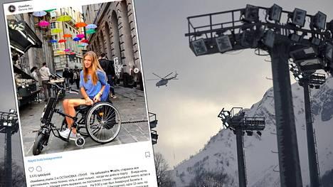 Freestylehiihtäjä Maria Komissarova halvaantui talvella 2014 Sotshin olympialaisten harjoituksissa sattuneessa onnettomuudessa.