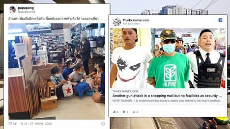 Ammuskelu tapahtui vilkkaassa Rattanathibet Central Plaza Shopping Centre -ostoskeskuksessa neljältä iltapäivällä paikallista aikaa.