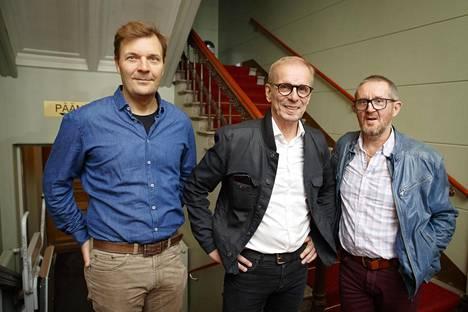 Voi veljet! Rooleissa Tommi Raitolehto (vas), Jukka Puotila ja Jukka Leisti.