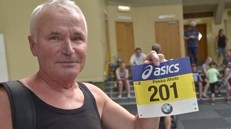 Pekka Ahola juoksee jo 40. kertaa Tukholman maratonilla.
