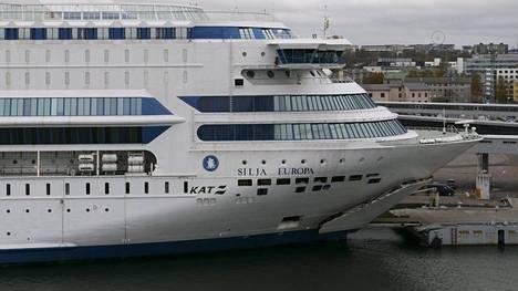 Silja Europa Tallinnan satamassa 23. lokakuuta 2019.