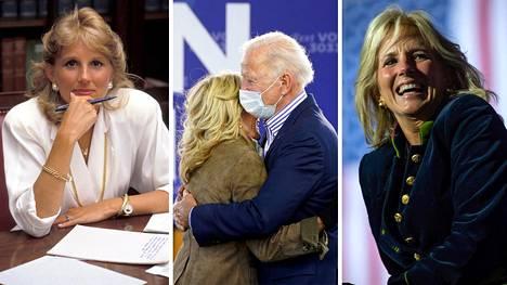 Jill Biden on pitänyt kiinni myös omasta urastaan aviomiehensä rinnalla.