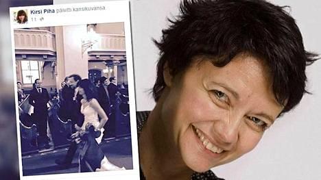 Kirsi Piha meni naimisiin 19. maaliskuuta Helsingissä Johanneksen kirkossa. Hän julkaisi sosiaalisessa mediassa kuvan, jossa astelee alttarille.