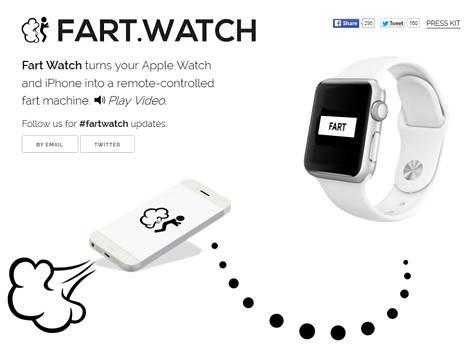 Fart Watch -sovellus on vallankumous pieruäänen jakelussa kauniisti muotoilun ja intuitiivisen käyttöliittymän kautta, tekijät kuvailivat tuotettaan.