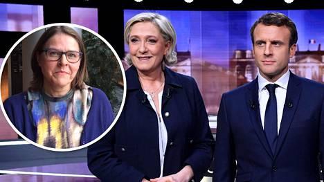 Heidi Hautala kommentoi Ranskan vaaleja, joiden toisella kierroksella kohtaavat Marine Le Pen ja Emmanuel Macron.