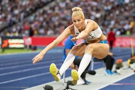 Kaudella 2018 Kristiina Mäkelä loikki ennen Berliinin EM-karsintaa yhdeksässä kilpailussa, joista neljä oli hallissa.