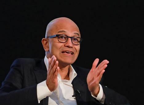 Intialaissyntyinen Satya Nadella on työskennellyt Microsoftin toimitusjohtajana vuodesta 2013.