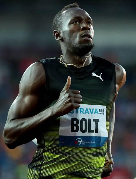 Usain Bolt juoksi kesäkuun lopussa Ostravan Golden Spike -kisan voittoon ajalla 10,06.