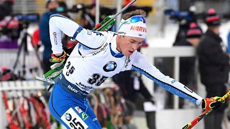 Tero Seppälä sijoittui viime kaudella maailmancupissa sijalle 37. Kuva Kontiolahden kauden päätöskisasta maaliskuulta.