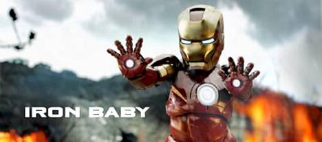 Iron Babyn innoittajana ovat toimineet Robert Downey Jr:n tähdittämät Iron Man -elokuvat.