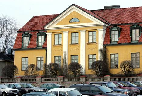 Porvoon piispala sijaitsee Vanhassa Porvoossa.