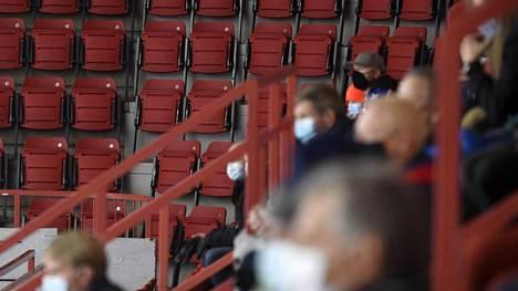 HIFK:n ja Tapparan välisessä Liiga-mittelössä oli vähänlaisesti yleisöä marraskuun loppupuolella.