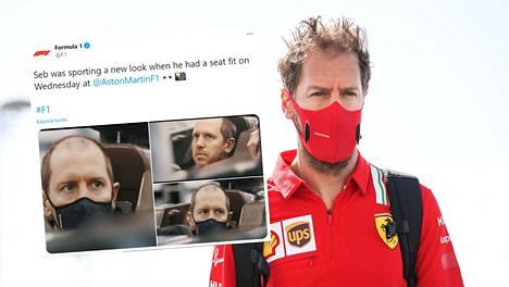 Sebastian Vettel totuttiin näkemään varsin tuuheahiuksisena ennen kuin hän esiintyi ensimmäisen kerran Aston Martinin väreissä.