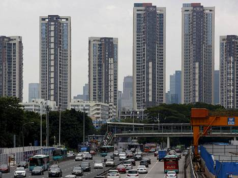 Asuntojen hinnat nousivat 57 prosenttia vuoden aikana Shenzhenissä, joka on yksi Kiinan tärkeimmistä talouskeskuksista.
