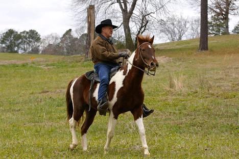 Republikaaniehdokas Roy Moore saapui äänestämään hevosella ratsastaen Alabaman Gallantissa tiistaina.