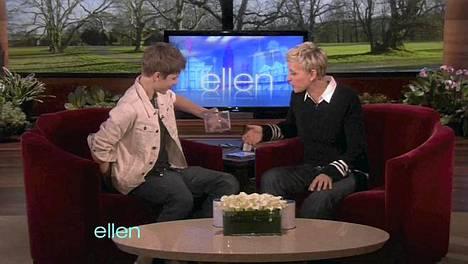 Justin Bieber ja Ellen DeGeneres