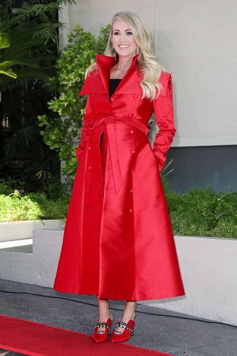 Laulaja Carrie Underwood.