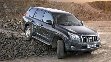 Toyota Land Cruiser keikkuu taulukon kärjessä.