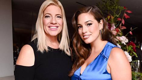 Linda Graham ja Ashley Graham Glamourin Women of the Year -tapahtumassa marraskuussa.