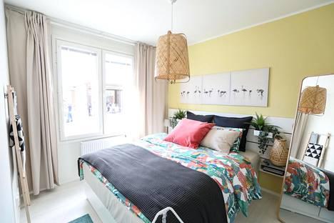 Ikea-kodissa värejä on käytetty reippaammin. Bambuyksityiskohdat tuovat Japanin tuntua.