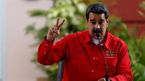 Presidentti Nicolas Maduro puhui Caracasissa 28. heinäkuuta 2019.
