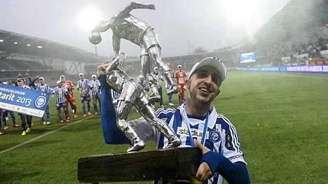 HJK:n Erfan Zeneli voitti Veikkausliigan tehopörssin ylivoimaisesti.