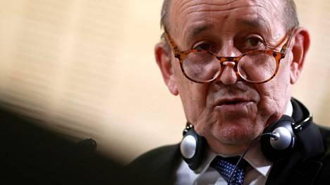 Ranskan ulkoministeri Jean-Yves Le Drian.