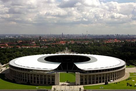 Tältä näyttää Berliinin olympiastadion nykyisin.