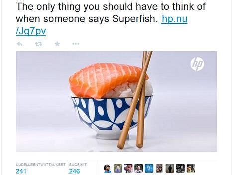 HP kurmotti Lenovoa Superfishin jakelusta.