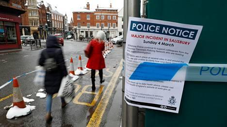 Skripalit myrkytettiin Britannian Salisburyssa viime maaliskuussa.