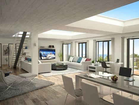 Rakenteilla olevissa asunnoissa ja huoneistossa tulee olemaan merinäkymät.