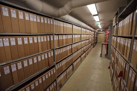 Olof Palmen murhan tutkintamateriaali on varastoitu mappeihin, joita säilytetään Ruotsin rikospoliisin kellarissa Kungsholmenilla.
